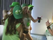Damn Sexy Hot Teens In A Very Slutty St Pattys Day