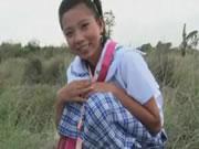 Real Life Asian Schoolgirl Outdoors