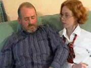 French Old Man Teaches Schoolgirl