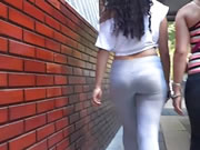 Sexy And Beautiful Buttocks Gray Licra