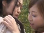 Japanese Lesbian Lovers Sex Outside