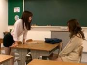 Horny Asian Girl Seduces Teacher Lesbian