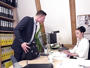 German Brunette Babe Fucks At Her Job Interview