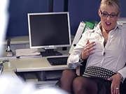 Hot Busty German MILF Sucks BBC At The Office
